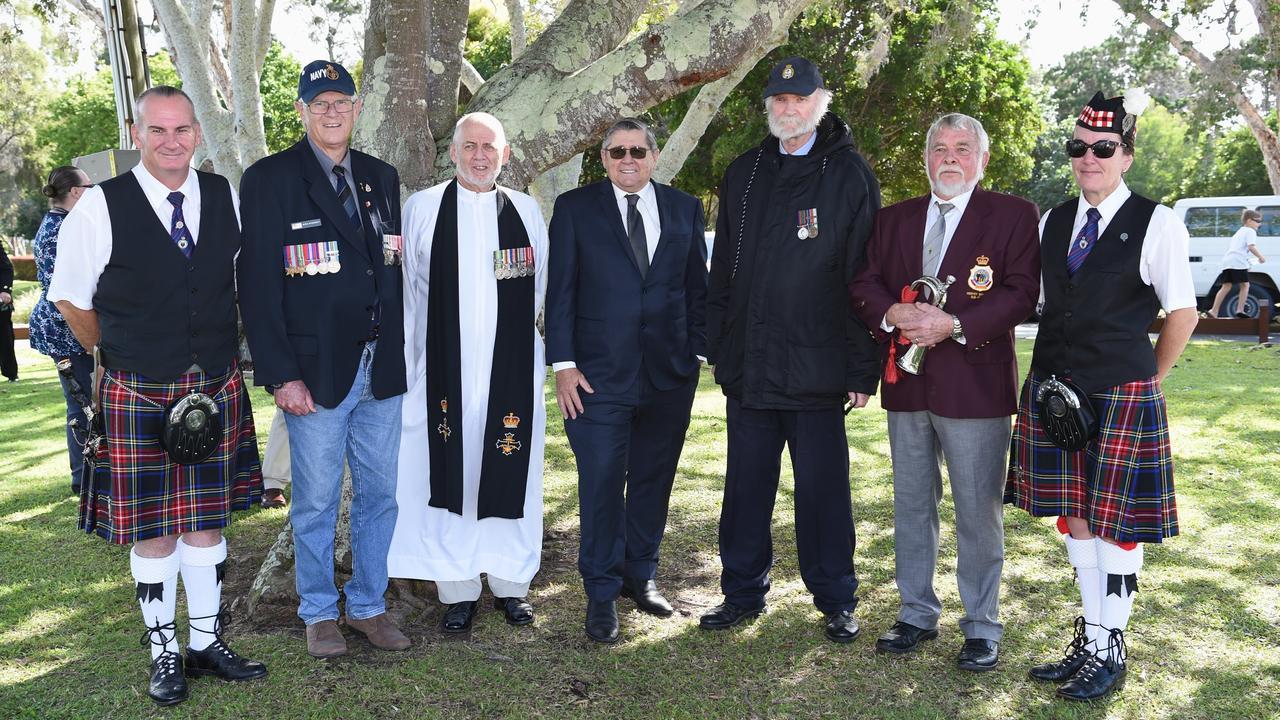 Operation Rimau Service - (L) Hugh McBroom, Peter McDermott, Jeff Jarvis, Ted Sorensen, John Holmes, Geoff Harper and Belinda McBroom.