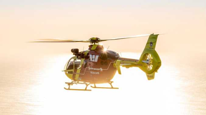 Teens flown to hospital after motorbike crash