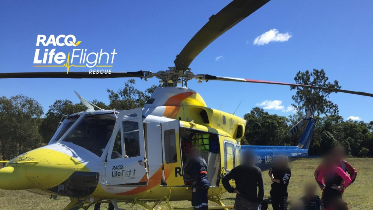 CRASH: A teenager has been flown to Bundaberg Hospital after a Trail Bike accident earlier today.