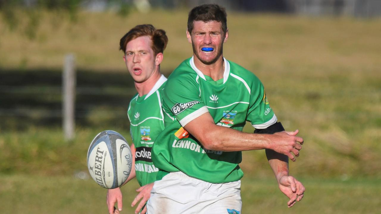 IN CONTROL: Former Wallaby and Trojans five-eighth Berrick Barnes produced on a masterclass display against Grafton Redmen on Saturday to guide his side to a 48-7 victory.