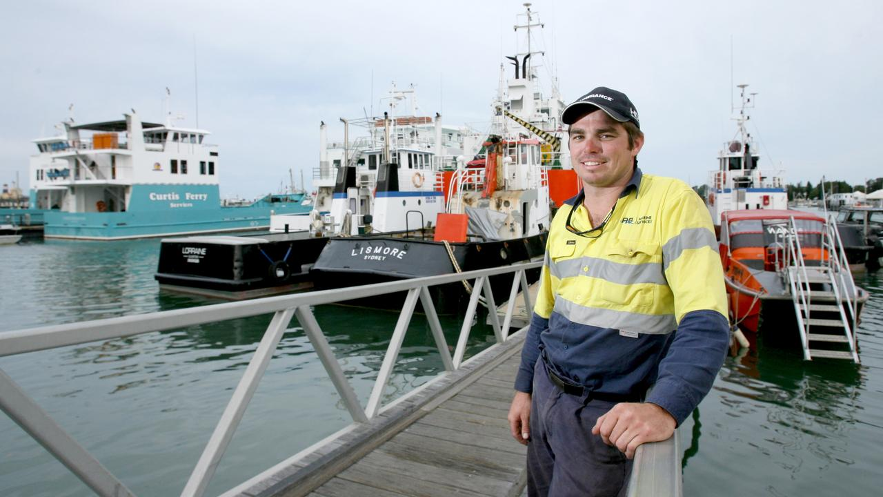 Adam Balkin from AB Marine Services and Curtis Ferry Services. Pic Mark Cranitch.
