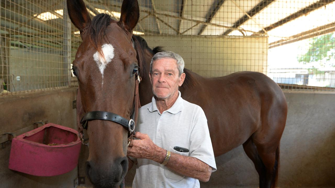 Racehorse trainer Lyle Rowe, 79, is in Rockhampton Hospital with head injuries after an accident at Callaghan Park racecourse on Friday morning. Picture: File