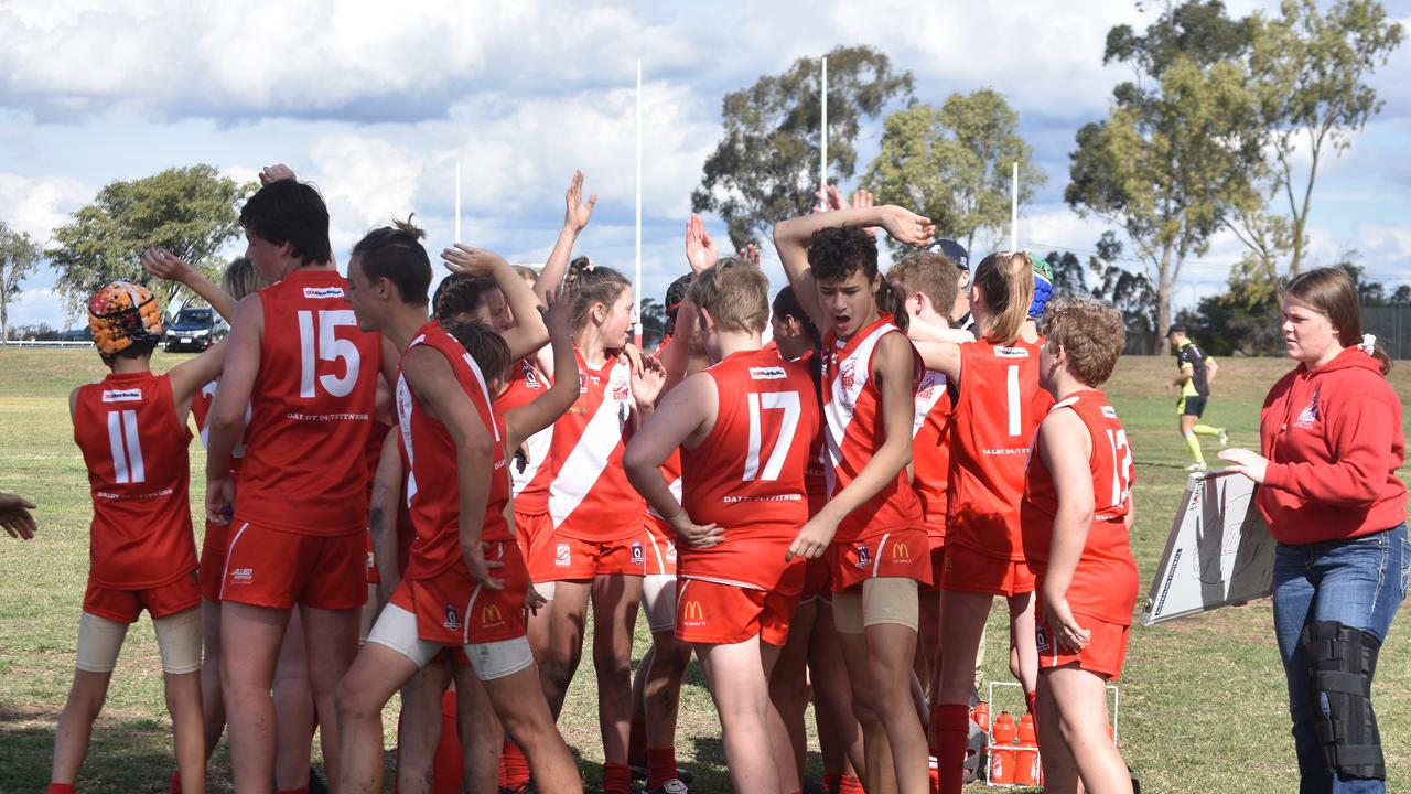 HOME ADVANTAGE: The under-14 Dalby Swans took on the South Toowoomba Bombers.