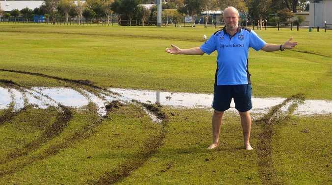 'Gutless, cowardly wonders' destroy soccer fields