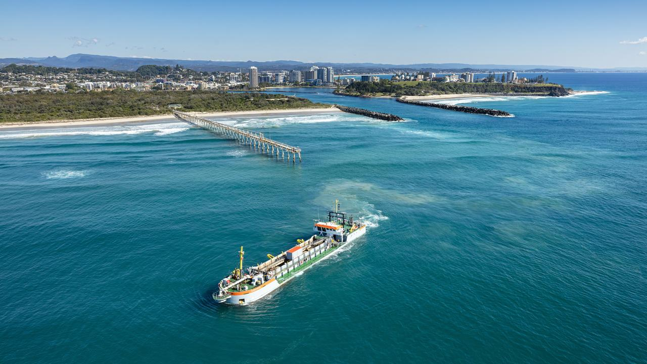 About 110,000 cubic metres of sand will be dredged from the Tweed River entrance to maintain a clear channel for safer boating starting this week.