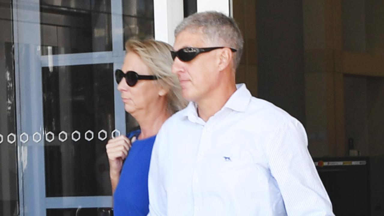 Former NT Police assistant commissioner Peter Bravos with wife Cindy Bravos.