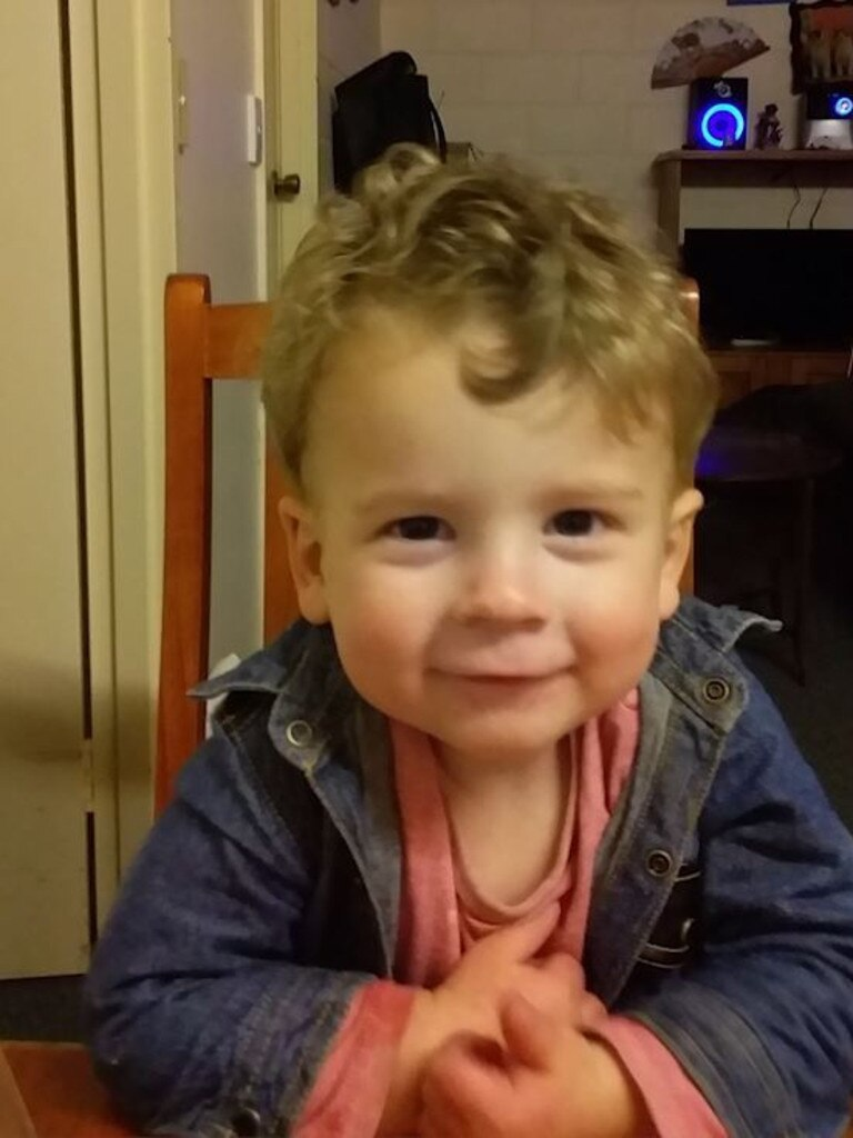 Image grab from video. Two-year-old Connor Horan died in August, 2018 from multiple head and internal injuries.