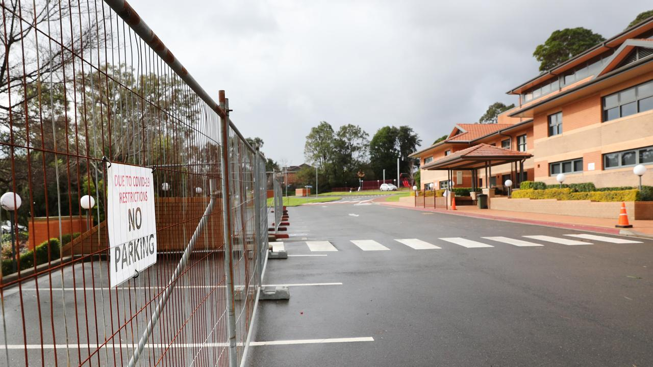 Tangara School for Girls at Cherrybrook has been closed following a COVID-19 outbreak. Picture: Richard Dobson