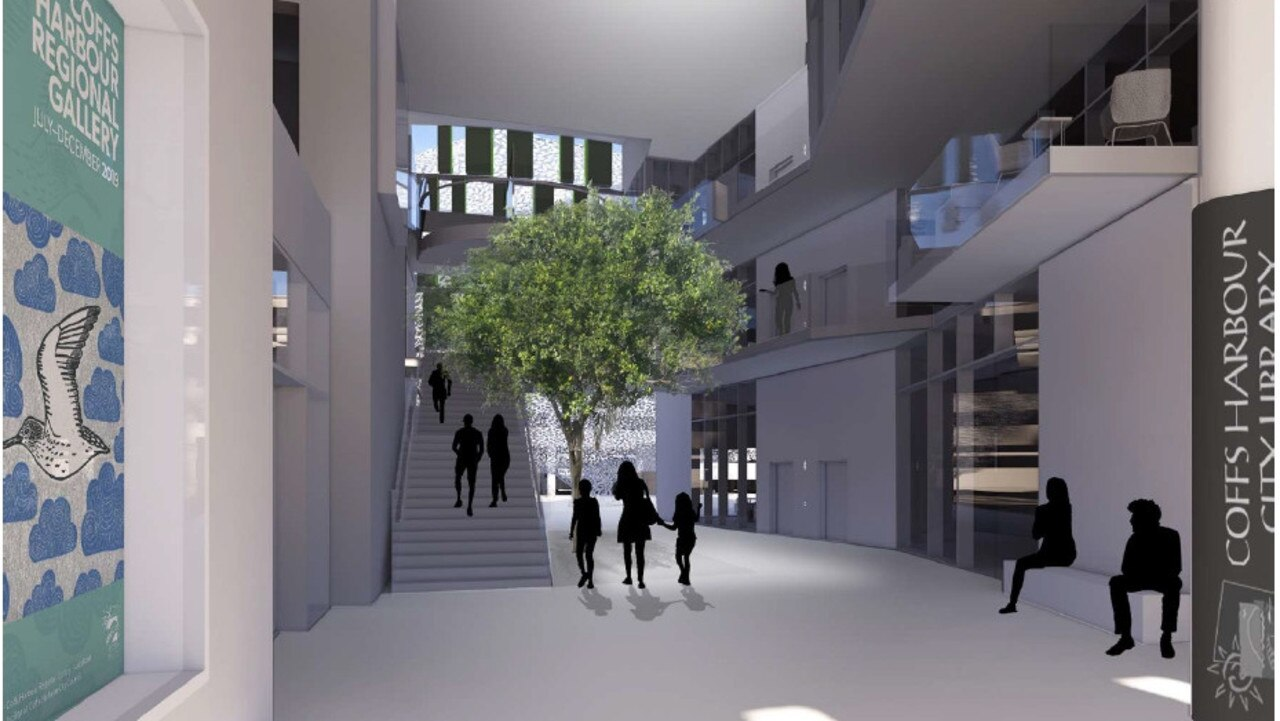 The new library will be located within the proposed Cultural and Civic Space on Gordon Street.