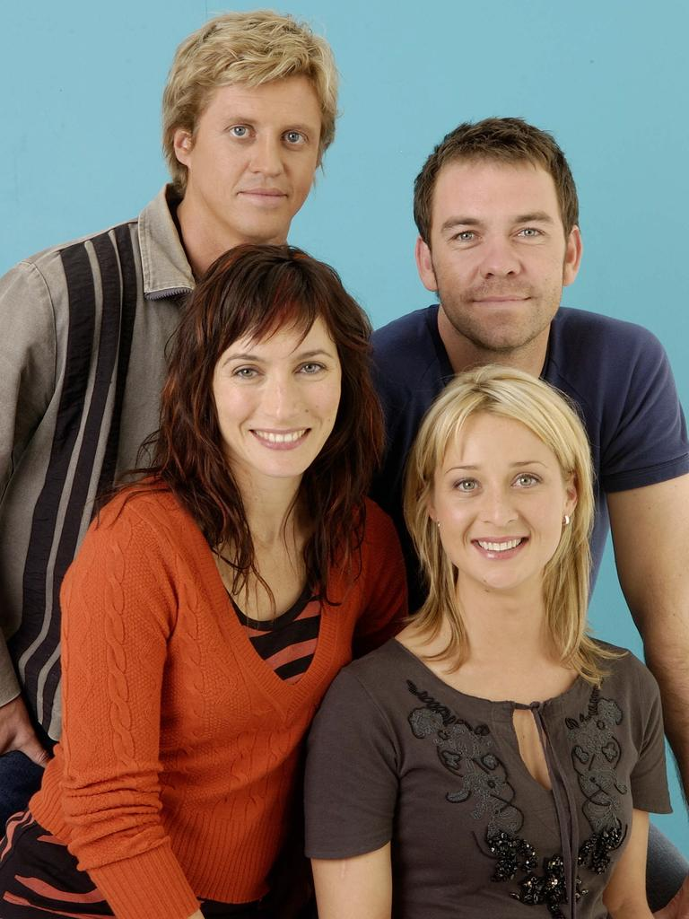 Wyllie (back left) with Brendan Cowell, Claudia Karvan and Asher Keddie in Love My Way.