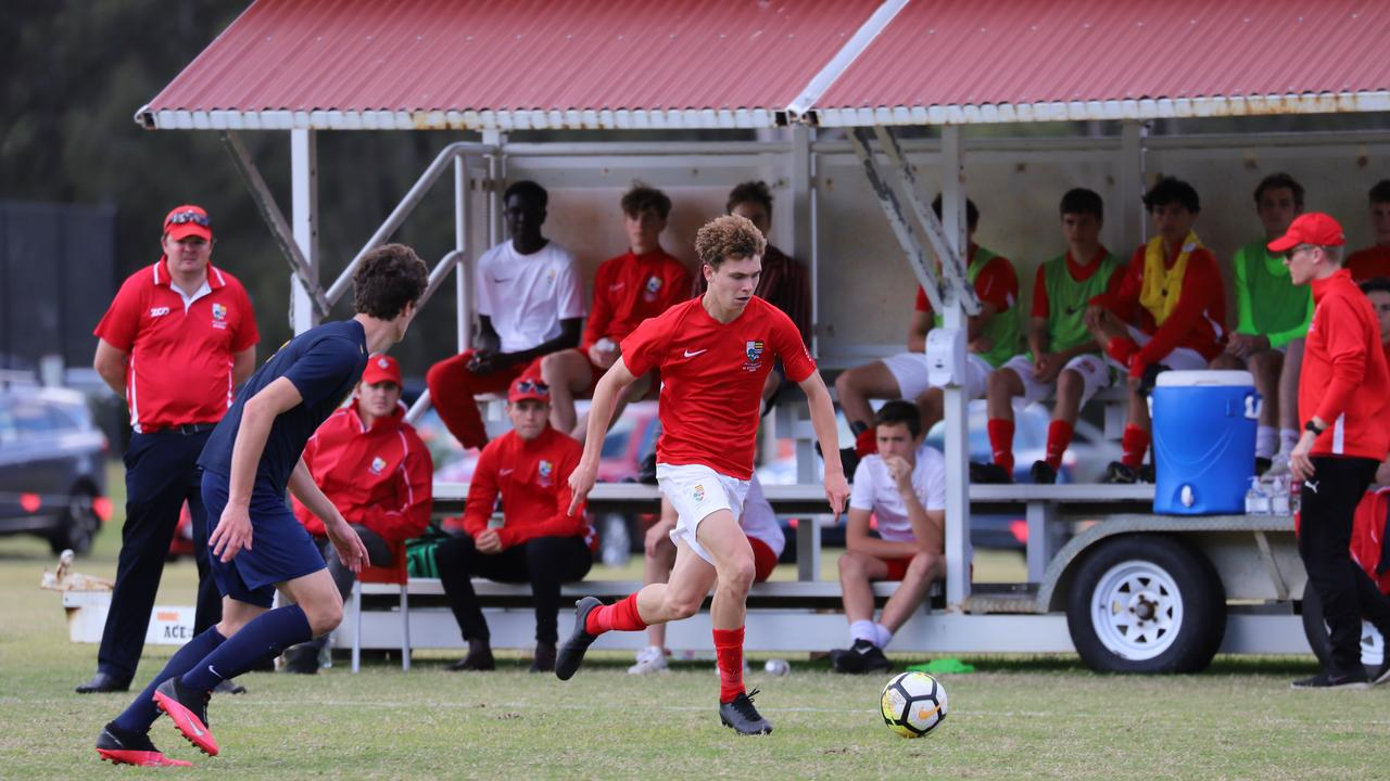 The IGS First XI continued their steady GPS football season with a 2-1 victory over Toowoomba Grammar in their latest clash. Picture: Isaac Hou