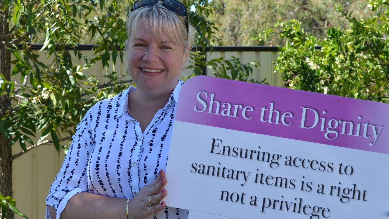 PERIOD PAIN: Share the Dignity volunteer Julie Unwin is counting on the generosity of residents to help provide basic essentials for women and girls.