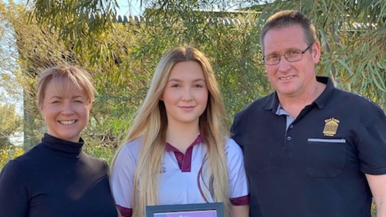Rochelle Ballard from Longreach State High School has placed as a runner-up in the Food and Beverage category in the Salute to Excellence Awards. Picture: Contributed.
