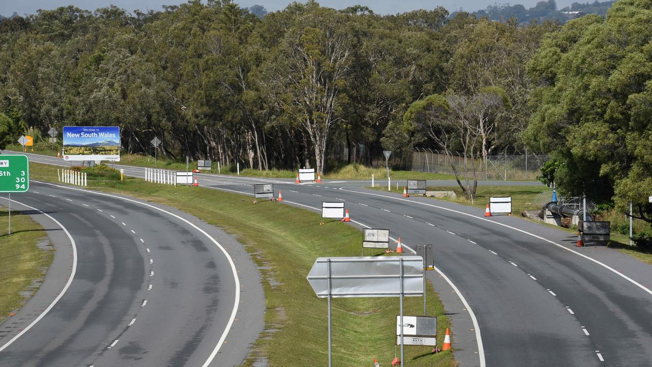 Few motorists after the border closed. Picture: NCA NewsWire / Steve Holland