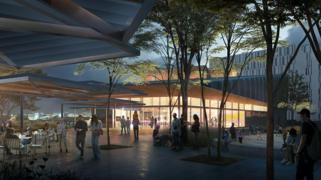An artist's impression of the Cross River Rail Boggo Road station precinct.
