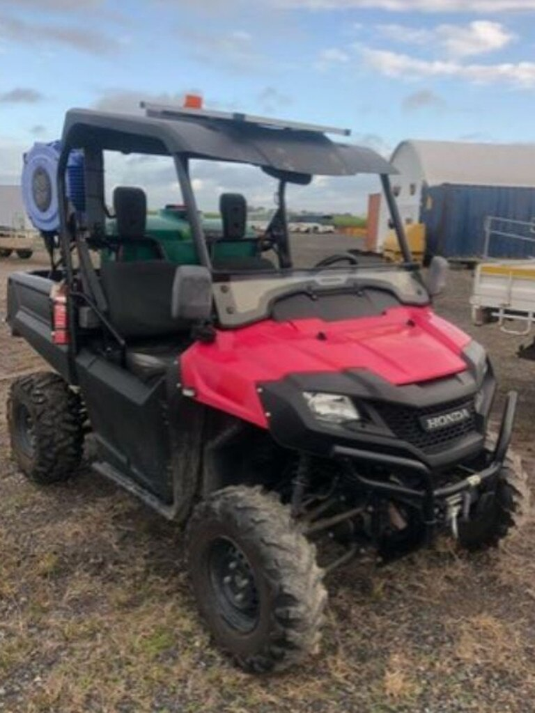 One of the few ATVs up for auction by Lloyds Auctioneers at Paget tomorrow. Picture: Lloyds Auctioneers.