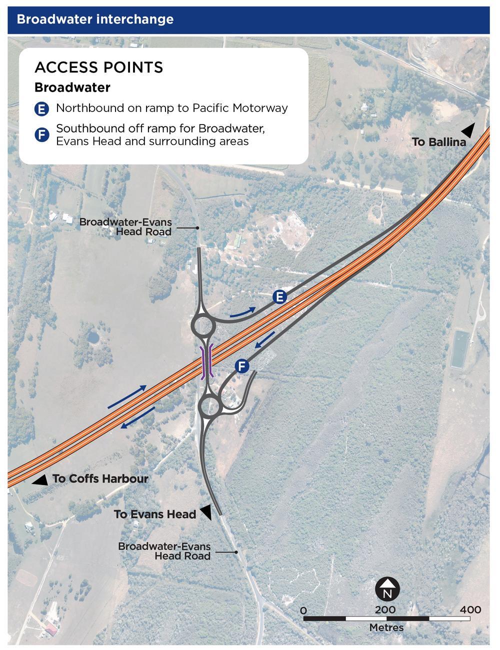 New Broadwater interchange arrangements