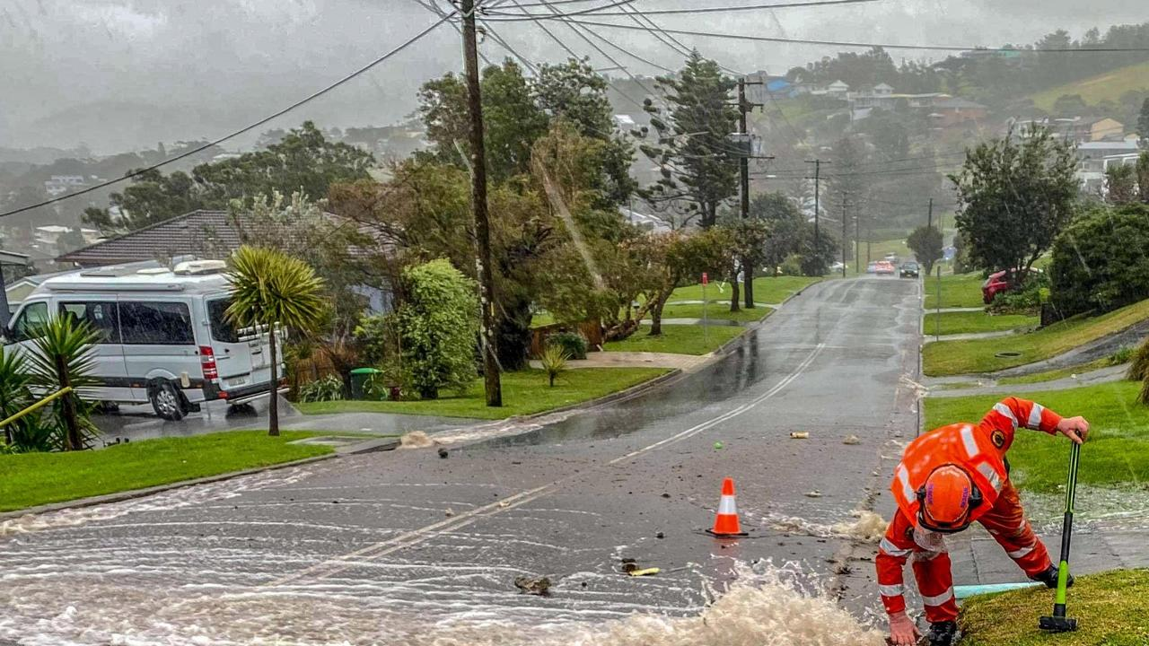 Residents have been forced to evacuate in parts of NSW and hundreds others have called for help as torrential rain and flash flooding battered the state. Picture: SES