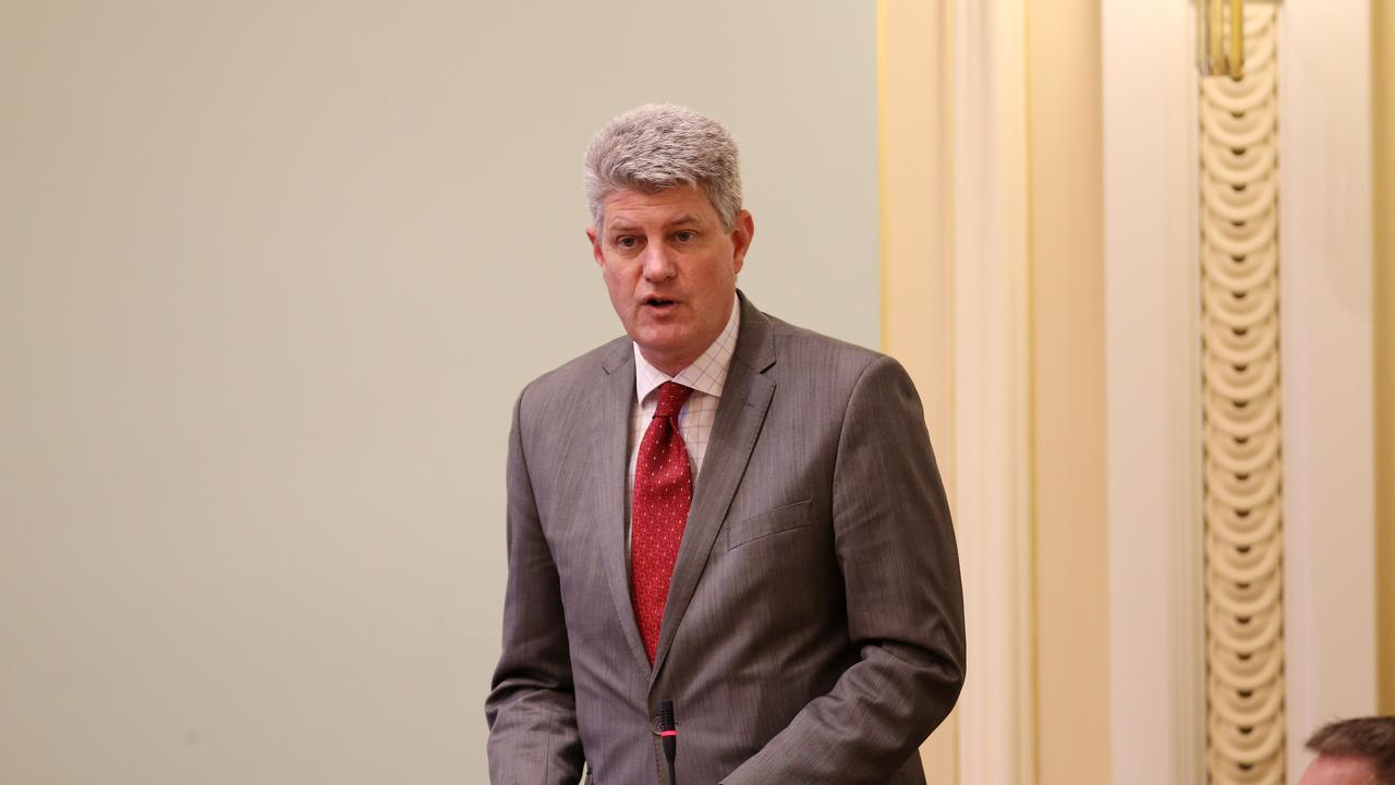 Minister for Local Government, Racing and Multicultural Affairs Stirling Hinchliffe speaking in parliament. Pics Tara Croser.