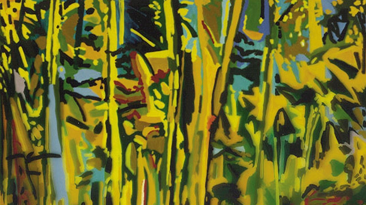 David van NunenCoachwood Forest 1987 Acrylic on linen183 x 184cmRegional Collection
