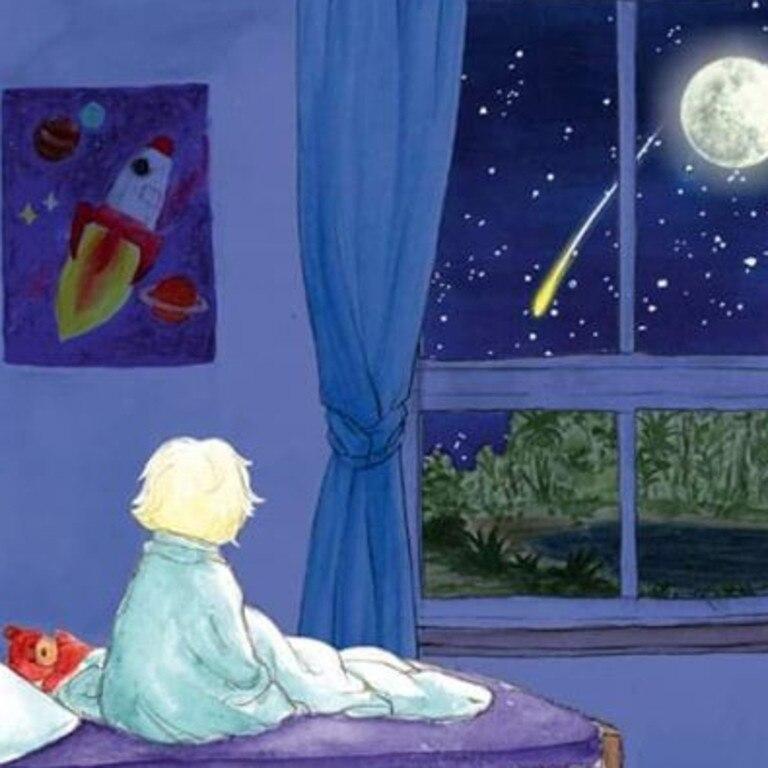Art from Kelly Luckman's book Osker and the Moon Rocks. Art: Maria Hecher.