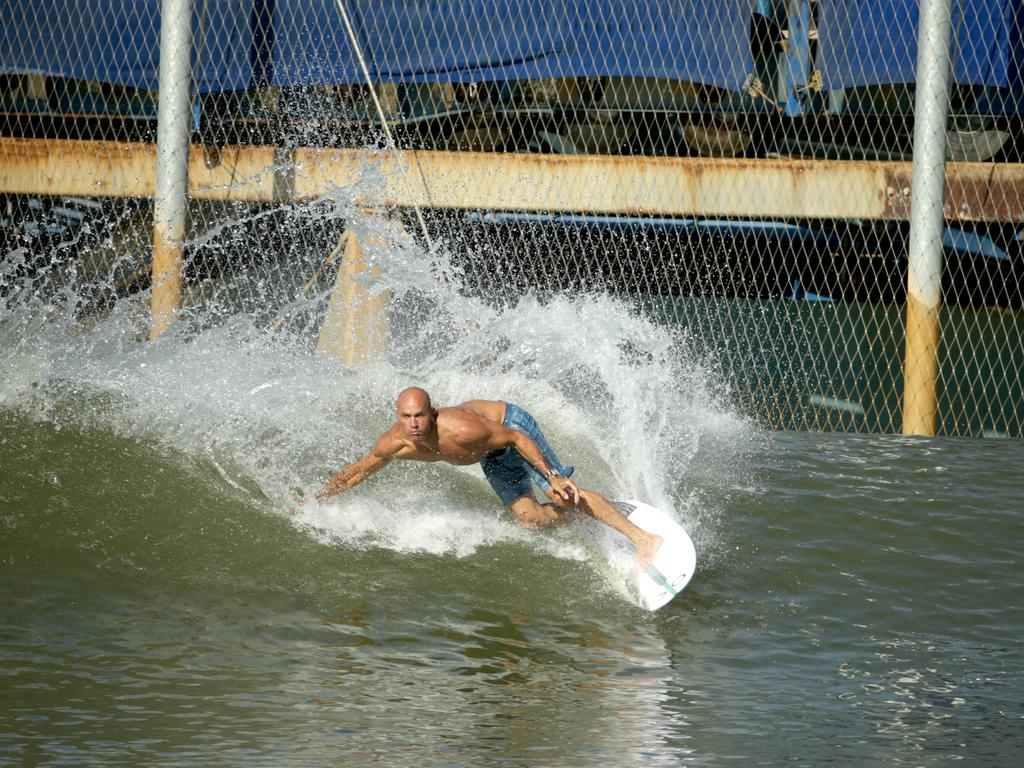 Surfer Kelly Slater is keen for the Sunshine Coast project to go ahead. (Photo by Jeff Gross/Getty Images for Breitling)