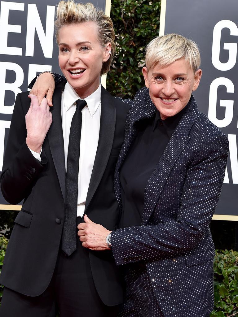 Portia de Rossi and Ellen DeGeneres. Picture: Axelle/Bauer-Griffin/FilmMagic