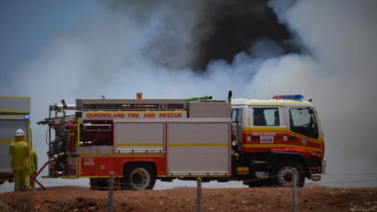 FIRE: Emergency services attended a job in Dalby last night.