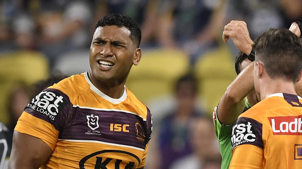 Tevita Pangai Jr has been hit with a breach-of-contract notice. Picture: Ian Hitchcock/Getty