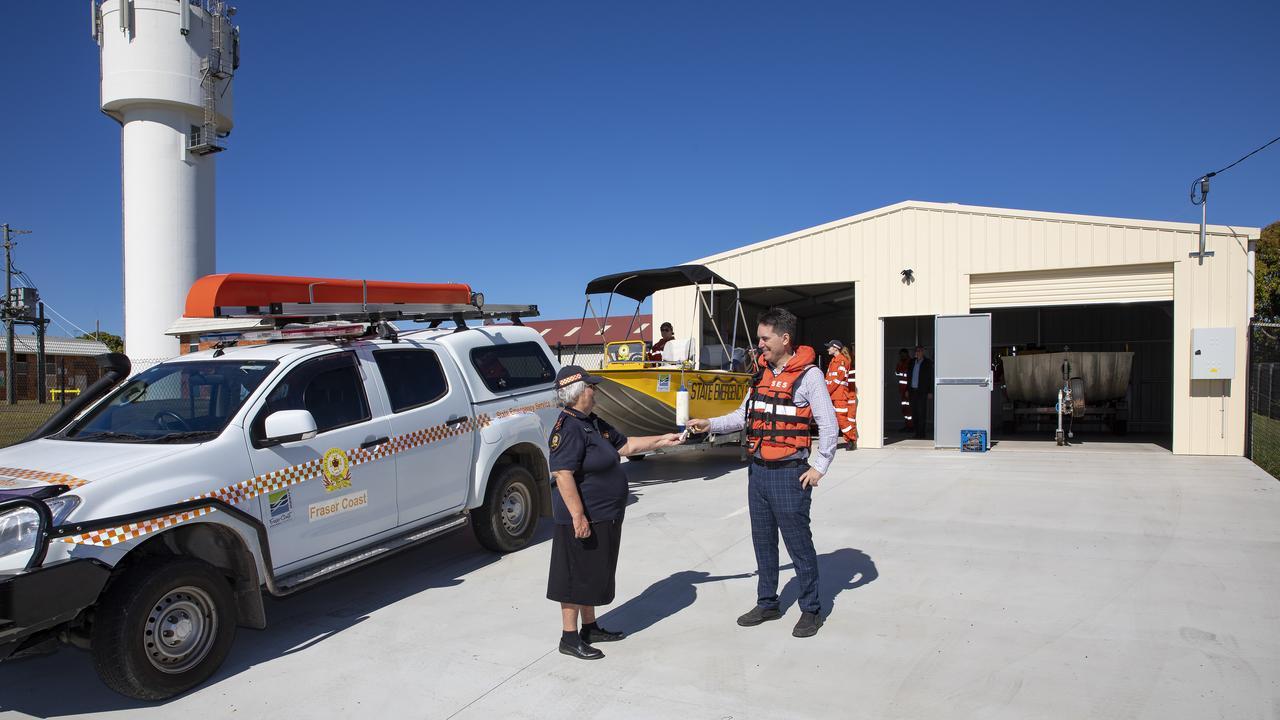 SES: Fraser Coast Mayor George Seymour meets Maryborough SES volunteers. Photo: Contributed