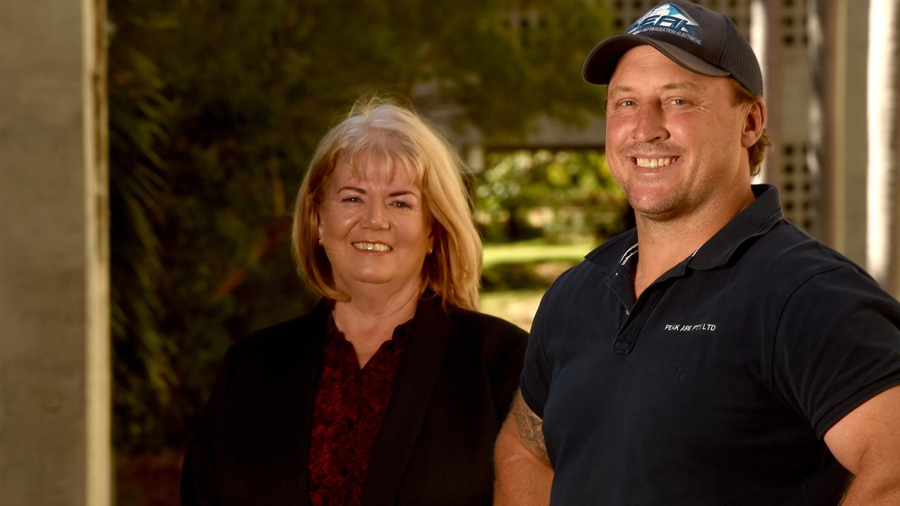 James Cook University Deputy Vice Chancellor Services and Resources Tricia Brandwith Peak ARE director Brad Swaffer. Picture: Evan Morgan