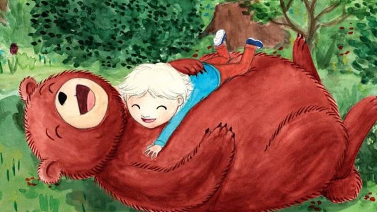 Illustration from Kelly Luckman's book Oskar and the Bear. Art: Maria Hecher.