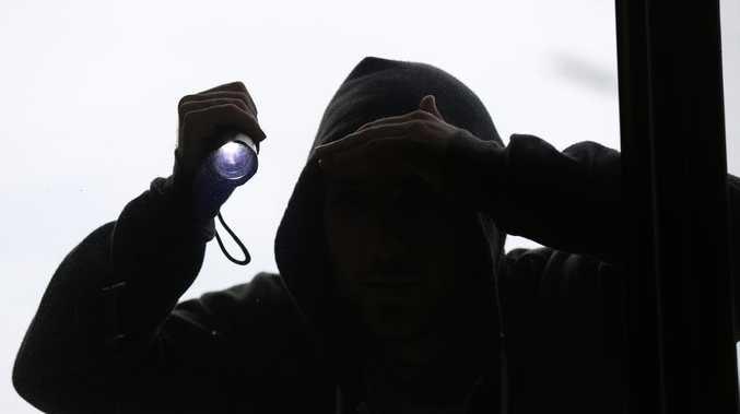 Thief kicks in property's door in search of booze