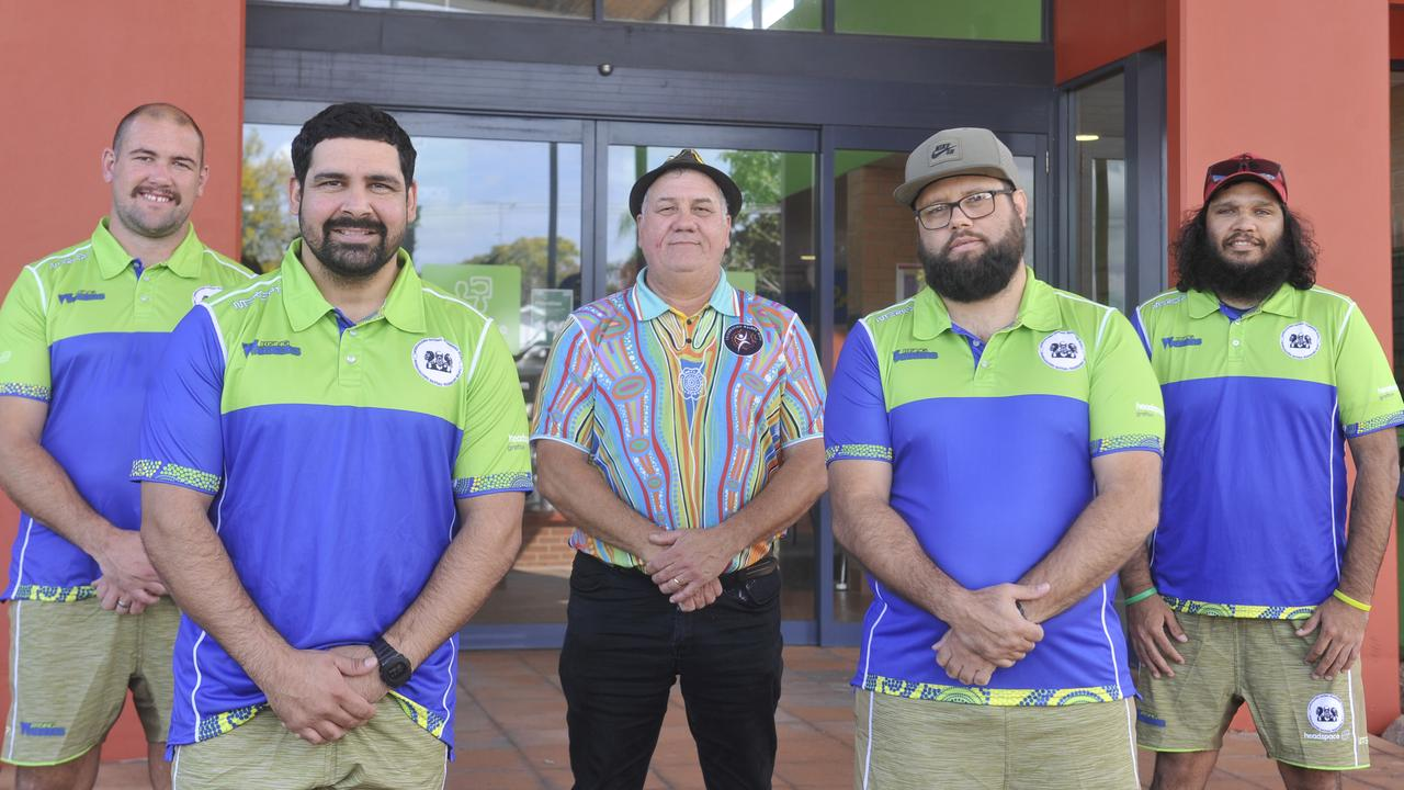 Bundjalung Baygal Warriors RLFC members Grant Stevens, Luke Walker, Uncle Trevor Kapeen, Ronny Gordon and Levi Caldwell are ready to take the Rising Warriors program to the next level as they tackle Indigenous mental health.