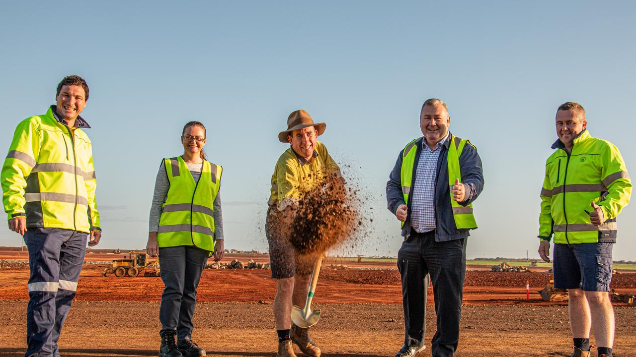 GROUND BREAKING: Greensill Farming Group announce the start of construction for Green Solutions Wide Bay with the official 'ground-breaking' of the site earlier this week.