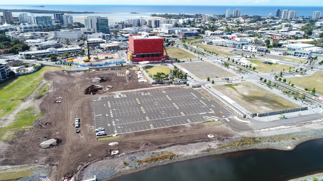 A new carpark in the Maroochydore CBD is expected to be ready for use by October. Picture: Patrick Woods.