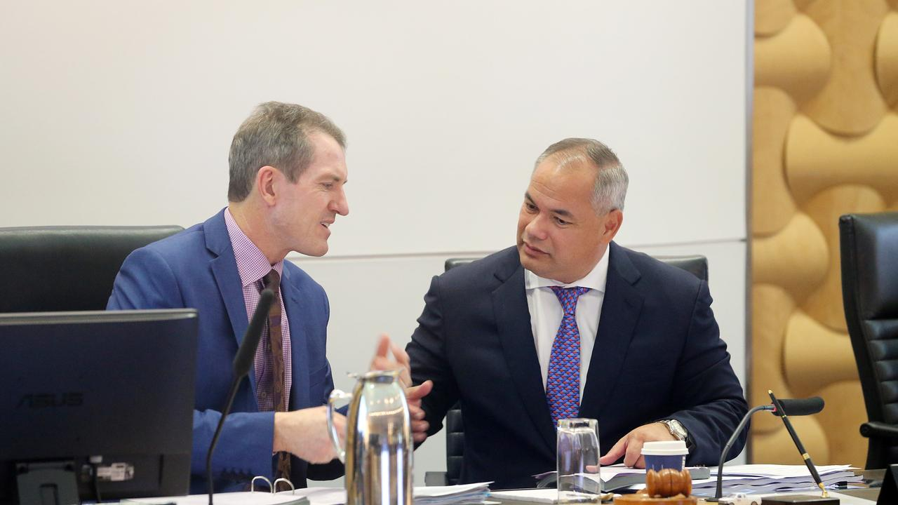 Photo of CEO Dale Dickson and Mayor Tom Tate. Pic by Richard Gosling