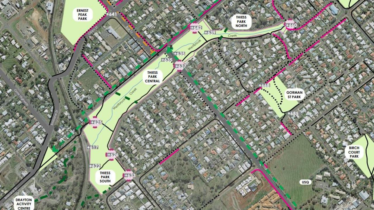 The master plan for the upgrade of Thiess Park, which was endorsed by the Toowoomba Regional Council this week.