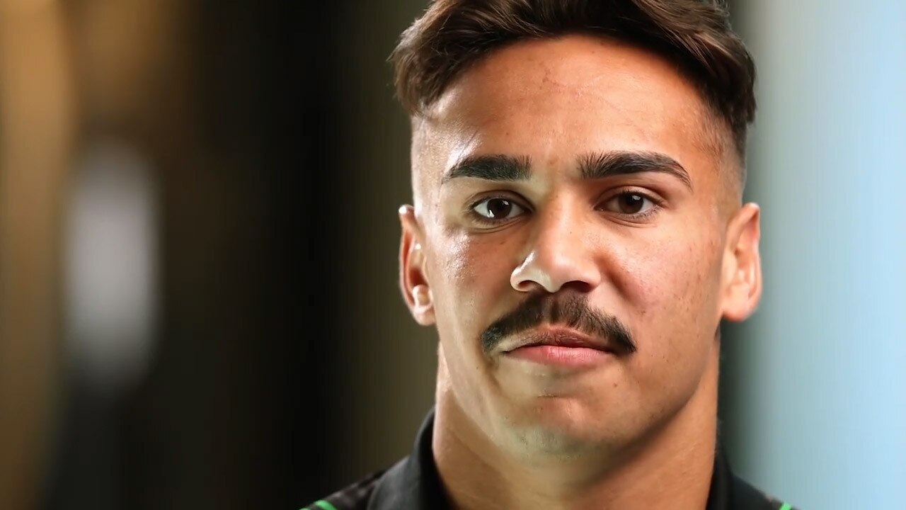 Daine Laurie speaks on a Penrith Panthers video about his NRL debut