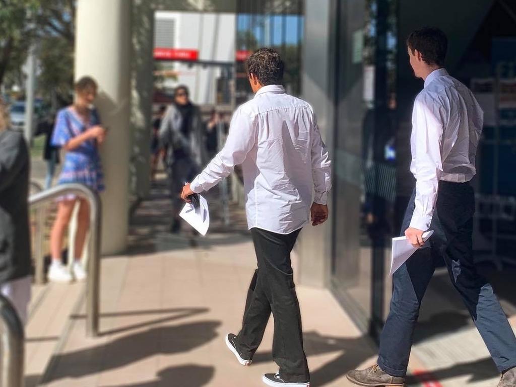 Jack Kelly Harvey and Noah Adam Martin leave court.