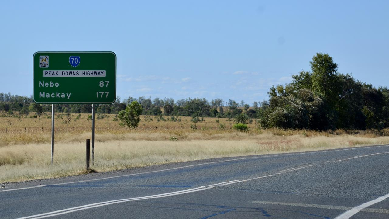 Peak Downs Highway is blocked after a crash. Picture: Tara Miko