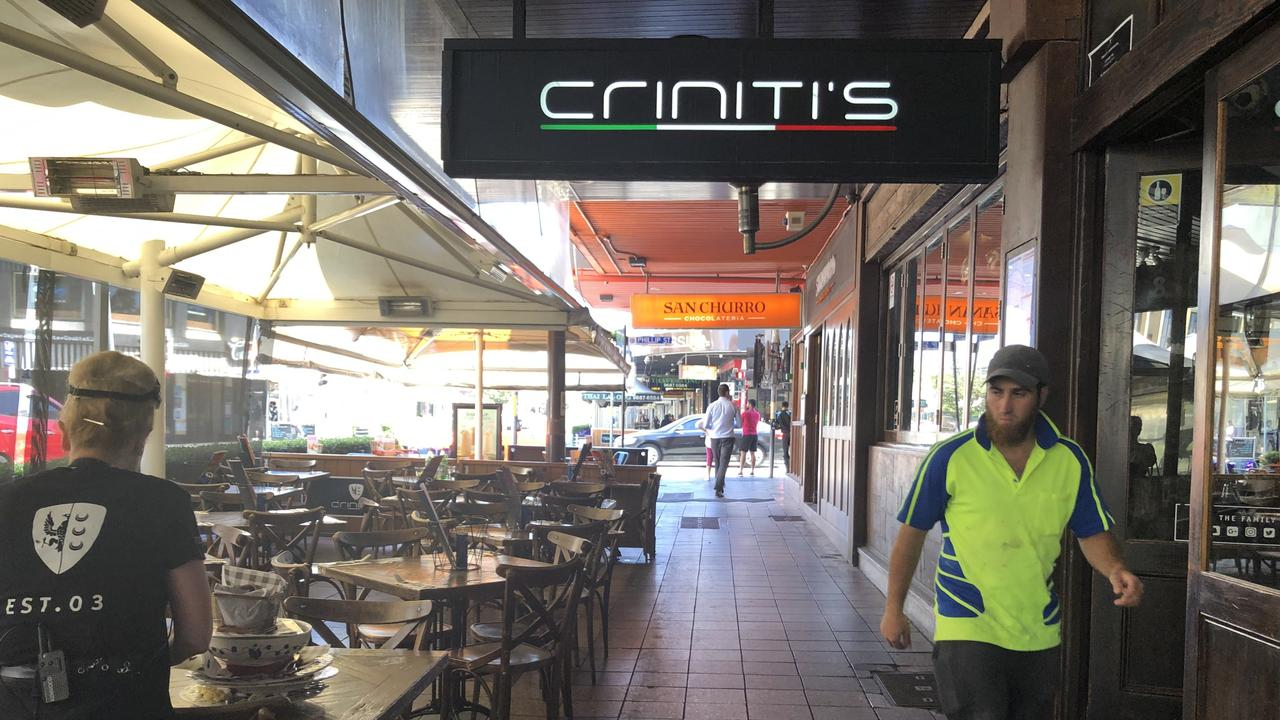Criniti's Italian restaurant at Parramatta.