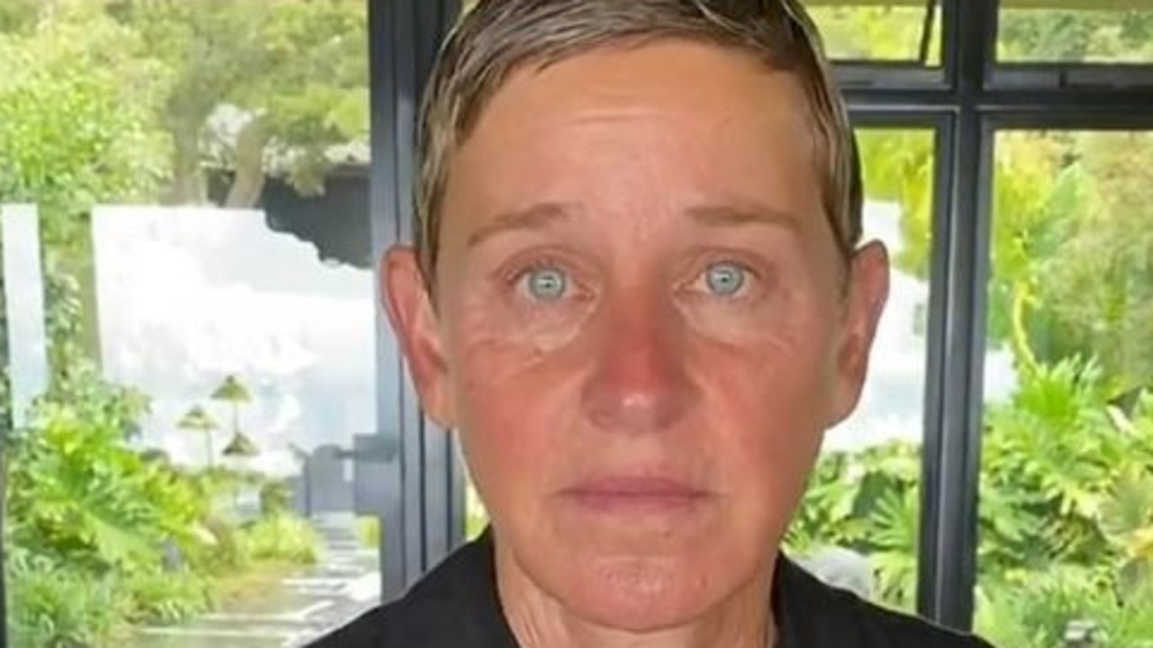 An emotional Ellen DeGeneres. Picture: Instagram