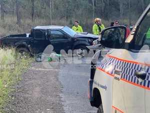 Driver escapes single-vehicle rollover on Coast