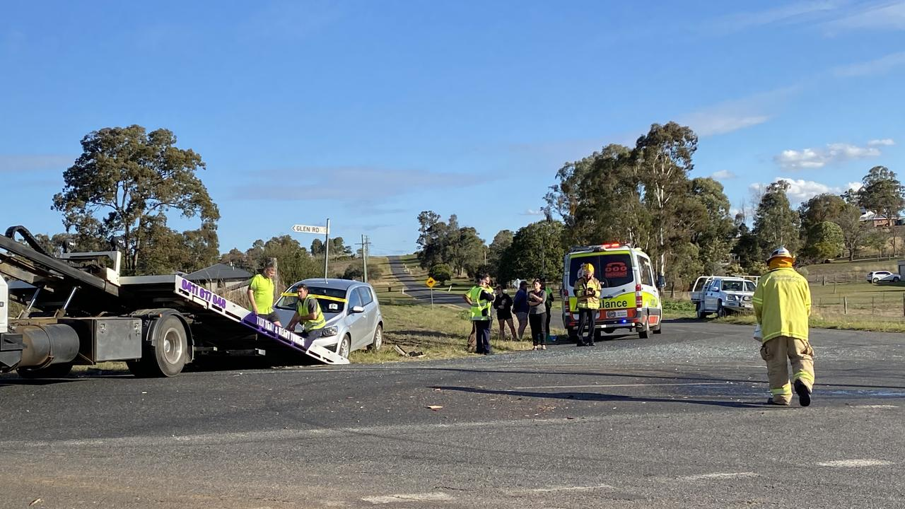 CRASH: Two vehicles were involved in the crash. Picture: Jessica Paul