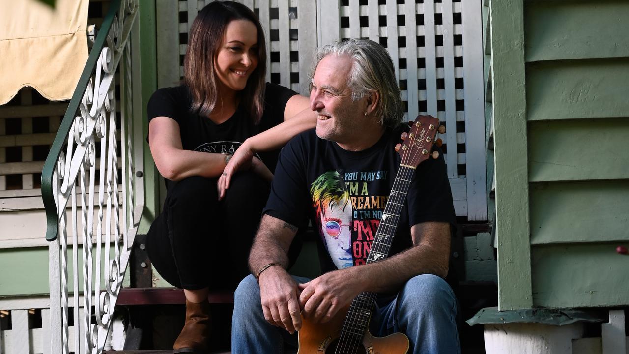 Sarah with her father Shane Hogan.