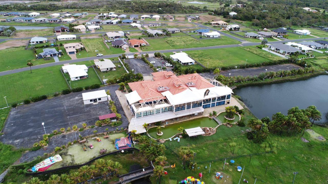 Zilzie Bay Resort as it sat abandoned in 2018.