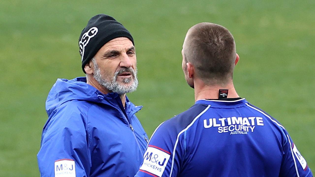 Interim Bulldogs coach Steve Georgallis won't be part of Trent Barrett's coaching staff next season. Picture: Phil Hillyard