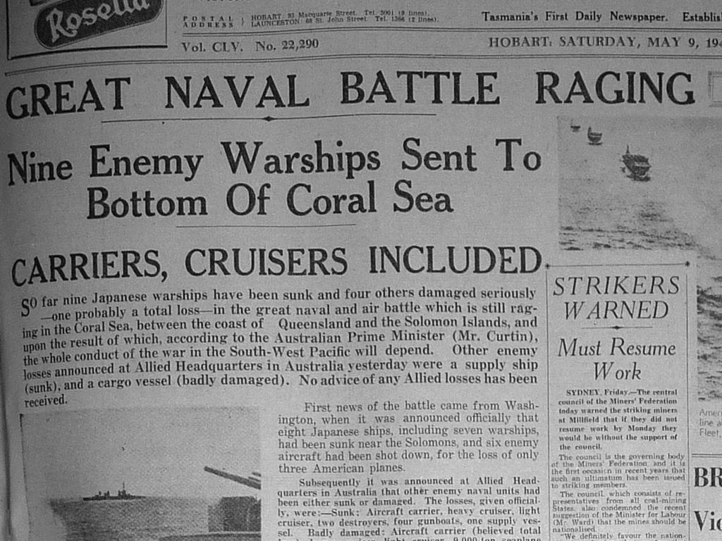 News of the battle made headlines at home, including in The Mercury.