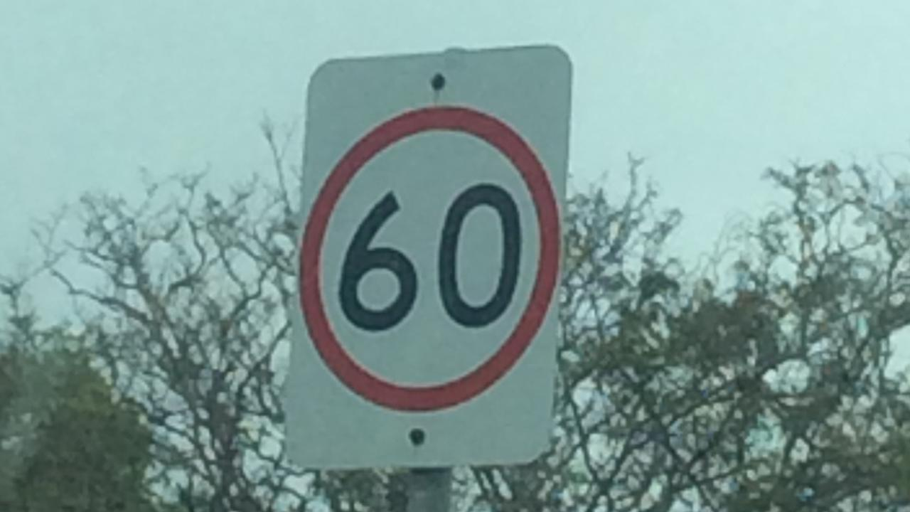 60km/h sign. PIC: Ingham Policing Unit